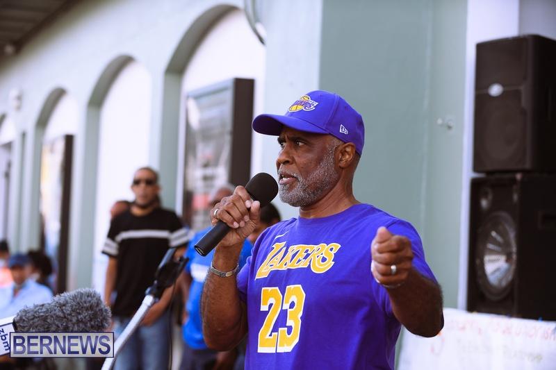 BIU Bermuda protest march August 31 2021 Bernews AW (6)