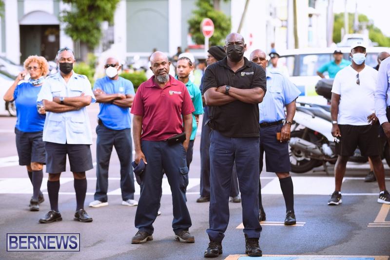 BIU Bermuda protest march August 31 2021 Bernews AW (7)
