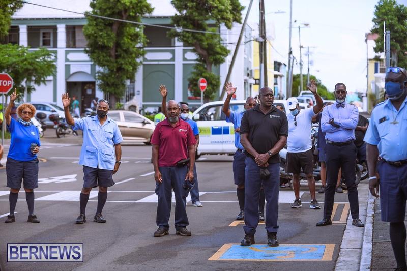 BIU Bermuda protest march August 31 2021 Bernews AW (9)