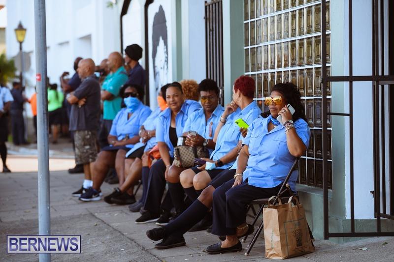 BIU Union gather and march Aug 30 2021 Bermuda Bernews AW (1)