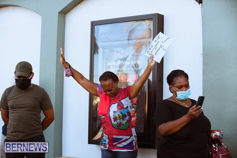 BIU Union gather and march Aug 30 2021 Bermuda Bernews AW (10)