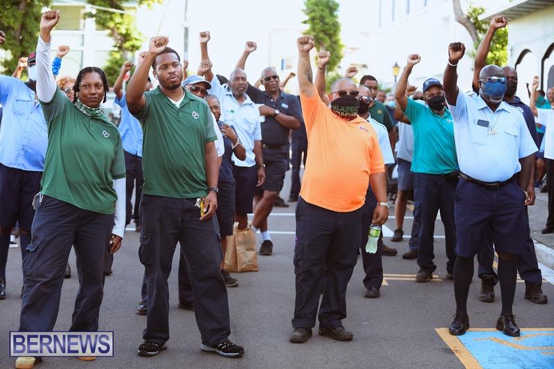 BIU Union gather and march Aug 30 2021 Bermuda Bernews AW (11)