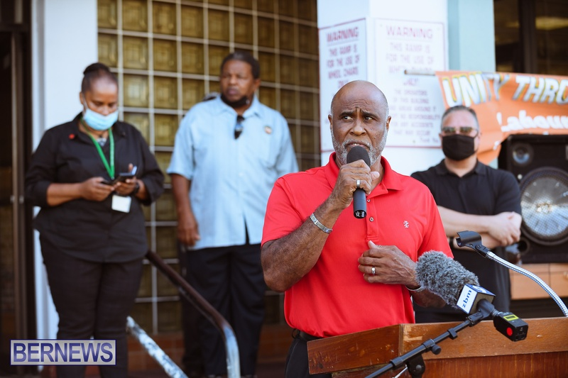BIU Union gather and march Aug 30 2021 Bermuda Bernews AW (12)