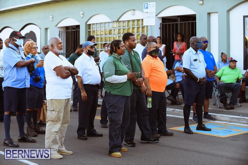 BIU Union gather and march Aug 30 2021 Bermuda Bernews AW (13)