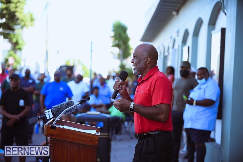 BIU Union gather and march Aug 30 2021 Bermuda Bernews AW (15)