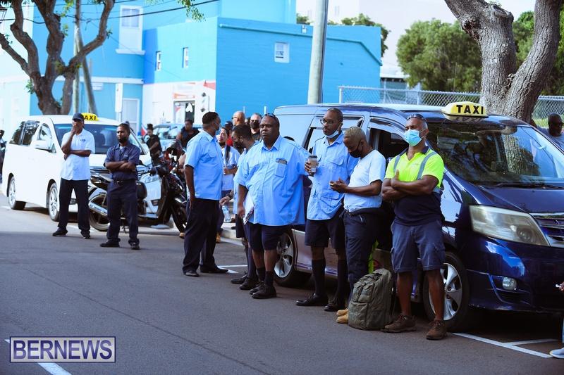 BIU Union gather and march Aug 30 2021 Bermuda Bernews AW (17)