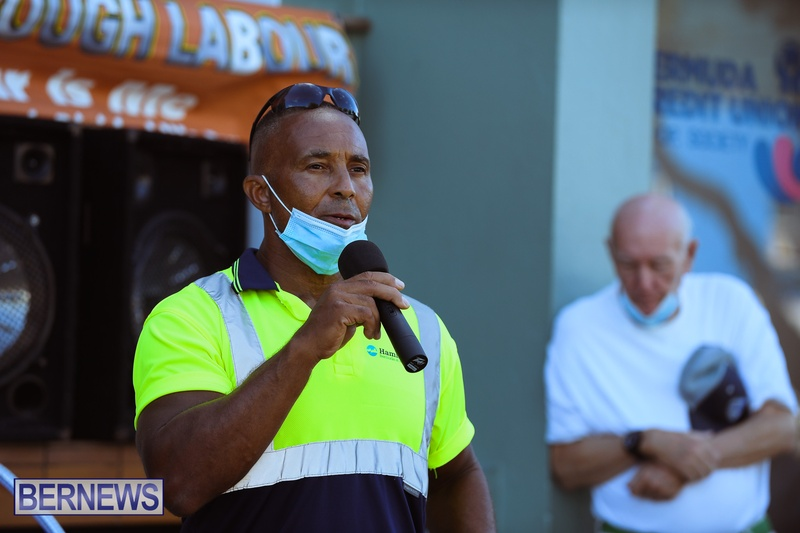 BIU Union gather and march Aug 30 2021 Bermuda Bernews AW (18)