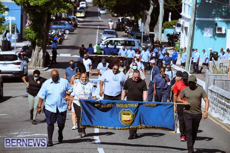 BIU Union gather and march Aug 30 2021 Bermuda Bernews AW (21)