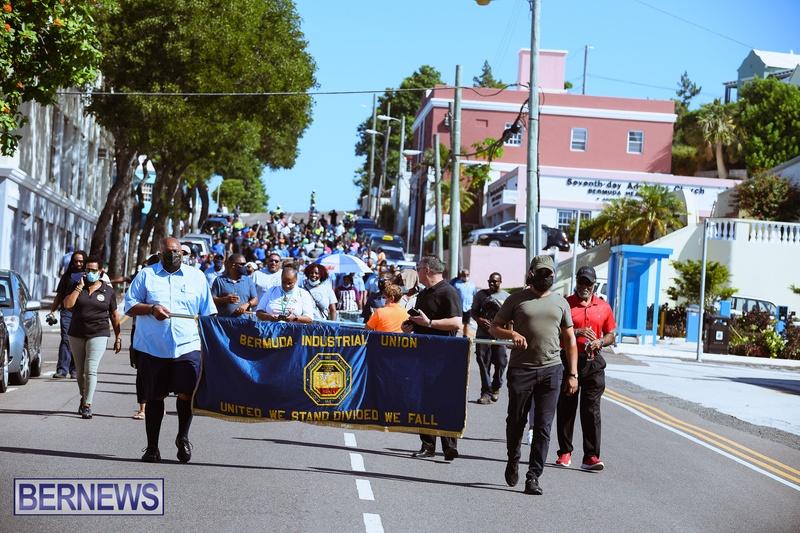 BIU Union gather and march Aug 30 2021 Bermuda Bernews AW (23)