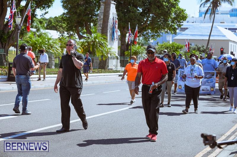 BIU Union gather and march Aug 30 2021 Bermuda Bernews AW (24)