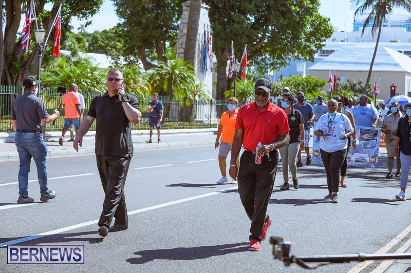 BIU Union gather and march Aug 30 2021 Bermuda Bernews AW (25)