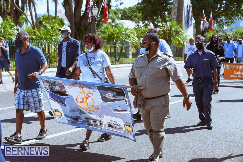BIU Union gather and march Aug 30 2021 Bermuda Bernews AW (26)