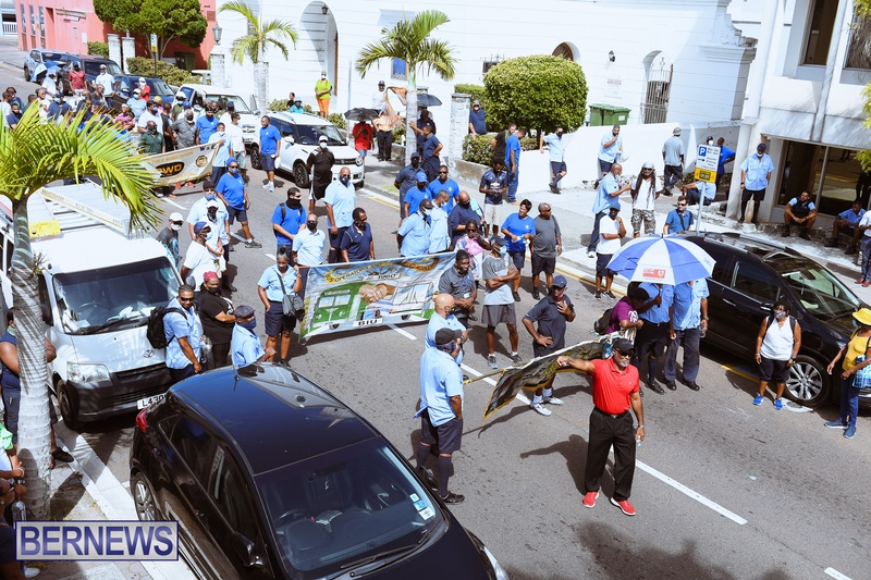 BIU Union gather and march Aug 30 2021 Bermuda Bernews AW (29)