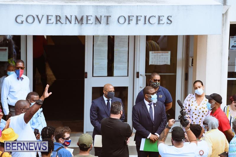 BIU Union gather and march Aug 30 2021 Bermuda Bernews AW (30)