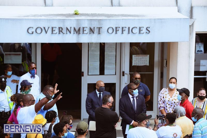 BIU Union gather and march Aug 30 2021 Bermuda Bernews AW (31)
