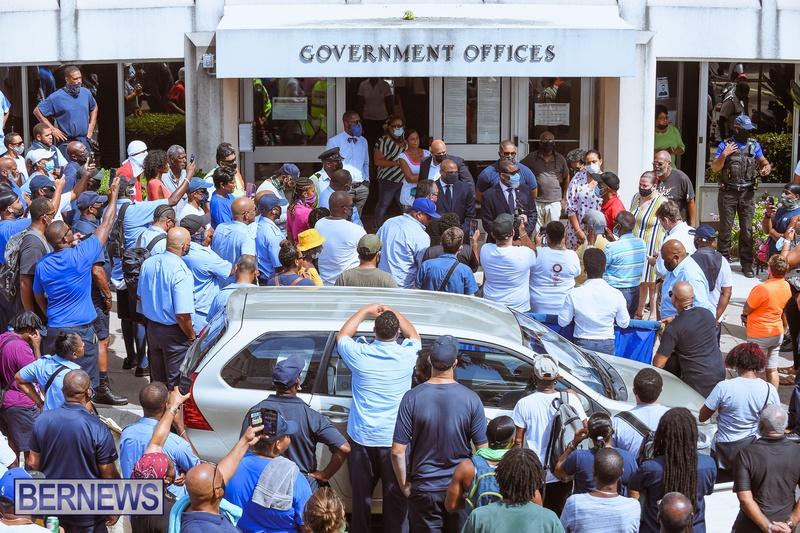 BIU Union gather and march Aug 30 2021 Bermuda Bernews AW (33)