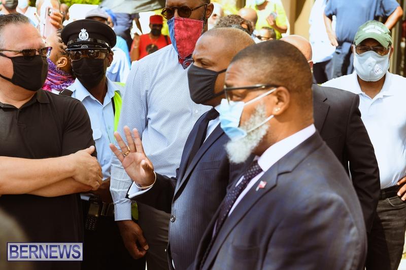 BIU Union gather and march Aug 30 2021 Bermuda Bernews AW (34)