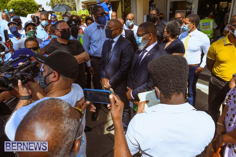 BIU Union gather and march Aug 30 2021 Bermuda Bernews AW (35)