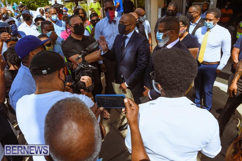 BIU Union gather and march Aug 30 2021 Bermuda Bernews AW (36)