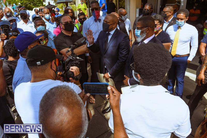 BIU Union gather and march Aug 30 2021 Bermuda Bernews AW (37)