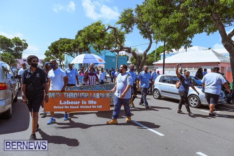 BIU Union gather and march Aug 30 2021 Bermuda Bernews AW (39)