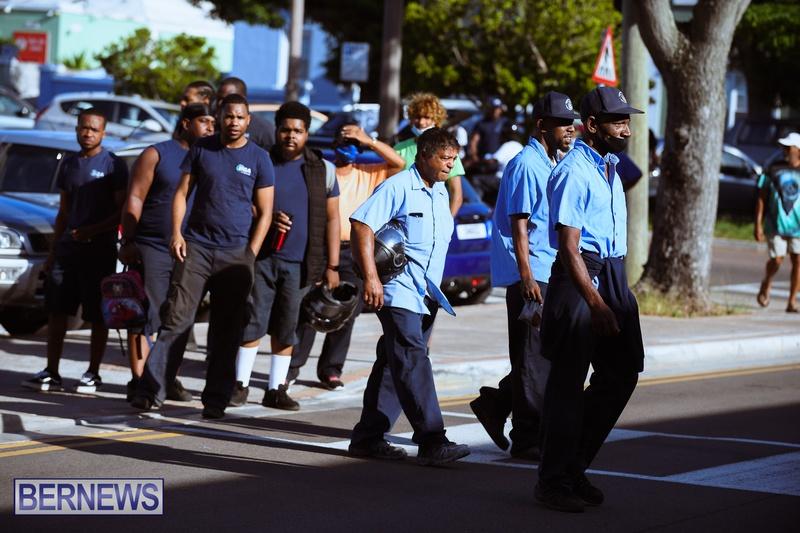 BIU Union gather and march Aug 30 2021 Bermuda Bernews AW (4)