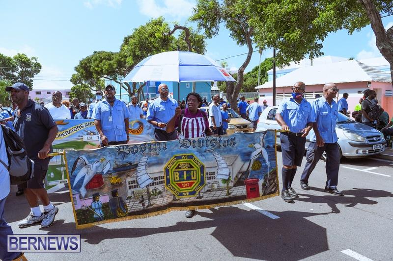 BIU Union gather and march Aug 30 2021 Bermuda Bernews AW (40)