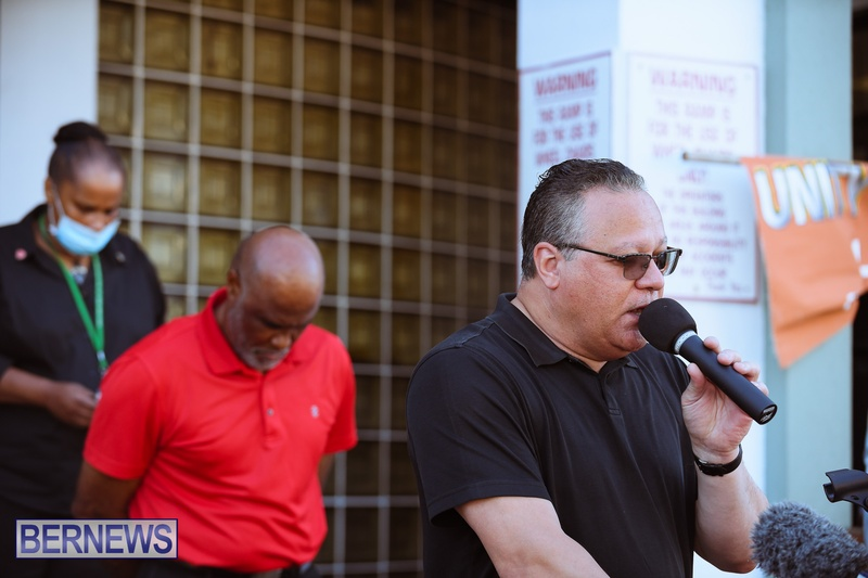 BIU Union gather and march Aug 30 2021 Bermuda Bernews AW (5)