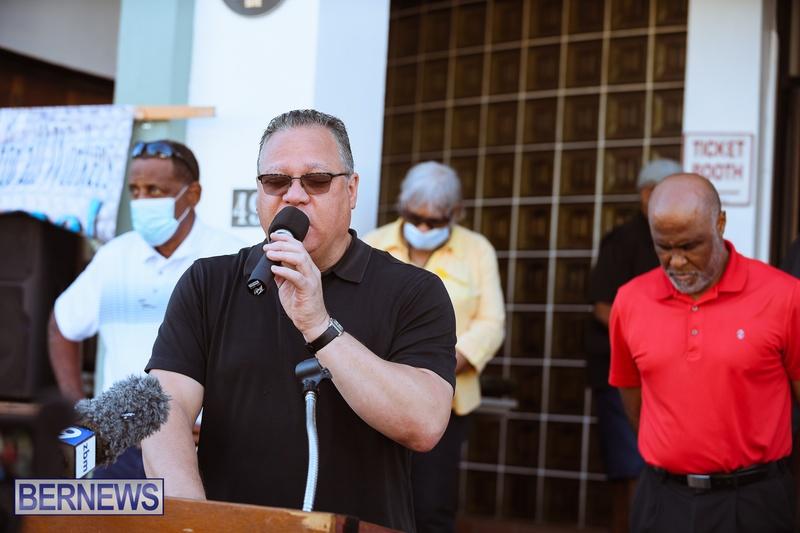 BIU Union gather and march Aug 30 2021 Bermuda Bernews AW (6)