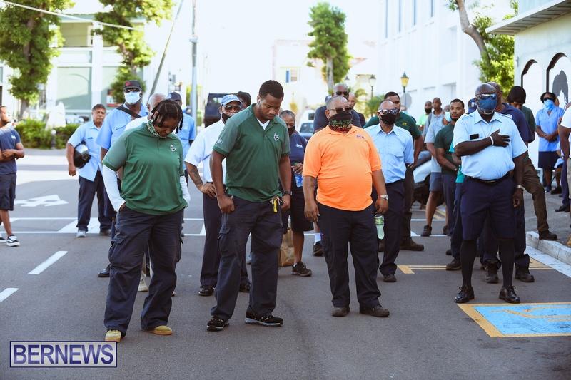 BIU Union gather and march Aug 30 2021 Bermuda Bernews AW (8)