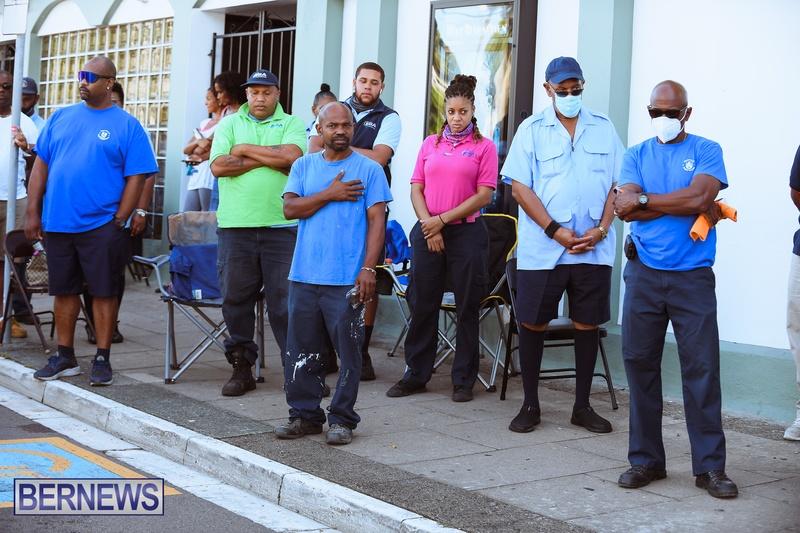 BIU Union gather and march Aug 30 2021 Bermuda Bernews AW (9)