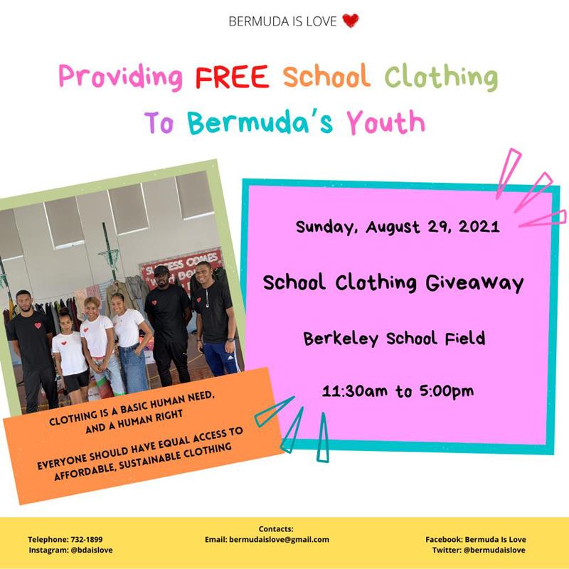 Bermuda Is Love School Clothing Giveaway August 2021