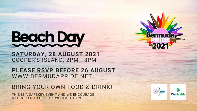 Bermuda Pride Beach Day Event Aug 2021