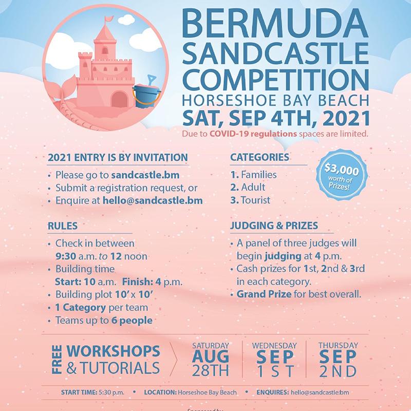Bermuda Sandcastle Competition Aug 2021