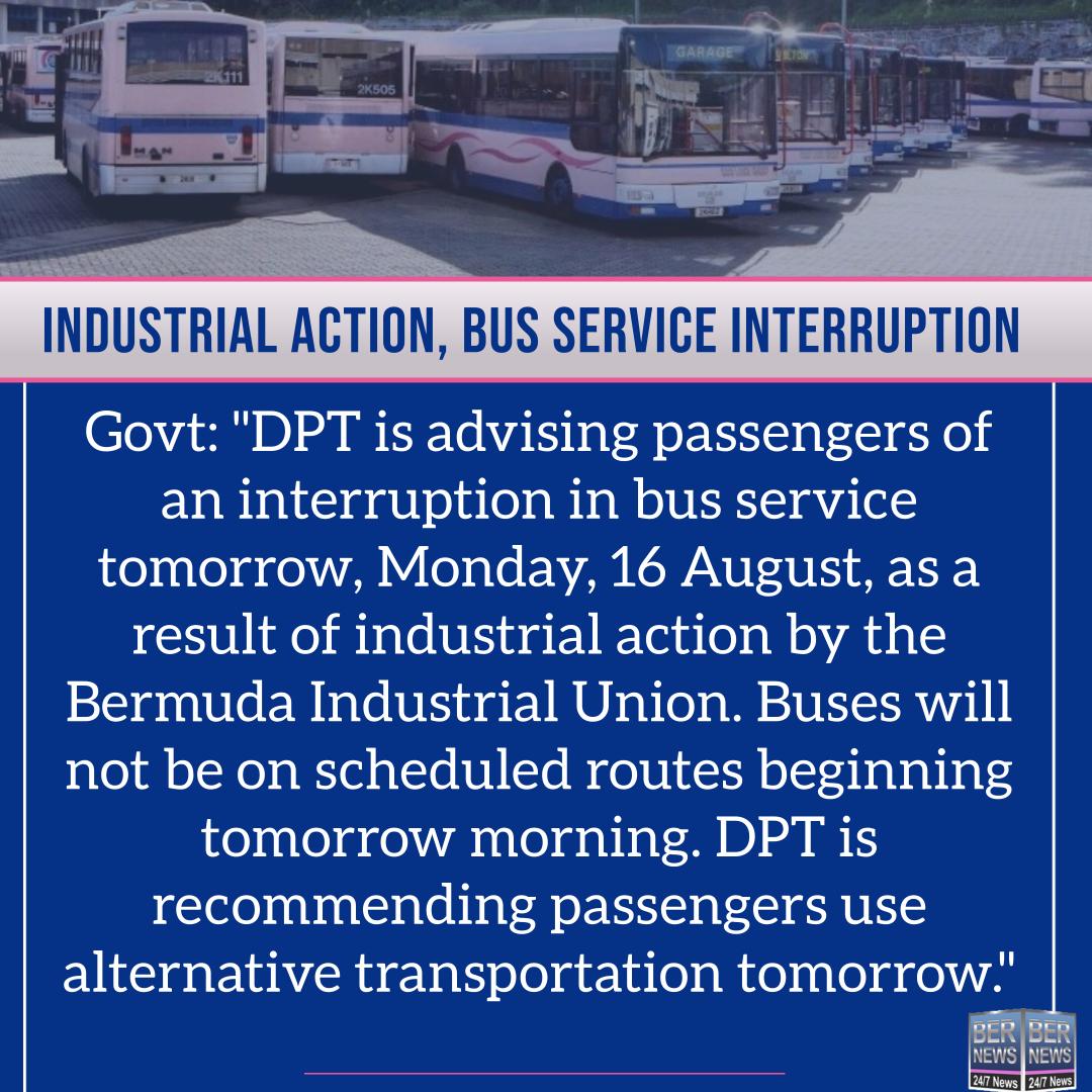 Bus service square bermuda Aug 15 2021