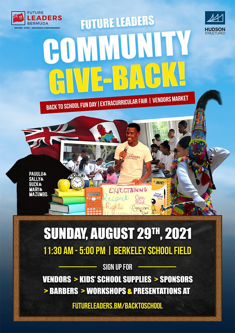 Future Leaders Bermuda Community Give Back Aug 2021