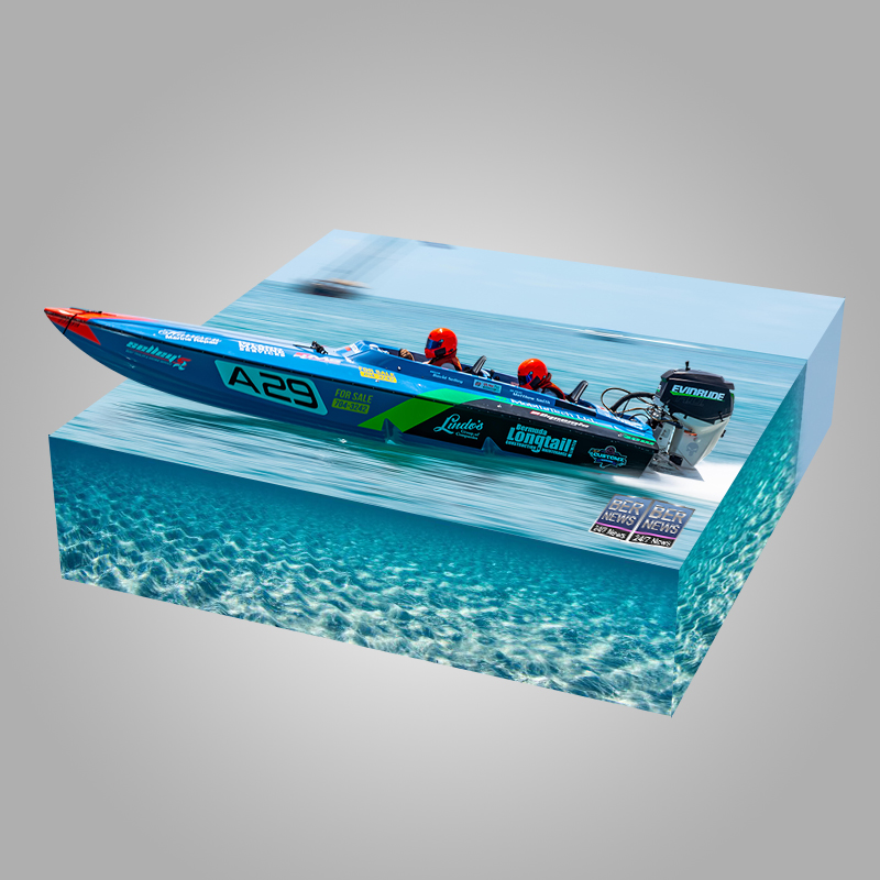 ISOMETRIC Around the Island Powerboat Racing A29 Bermuda August 9 2021 3d cube vibe