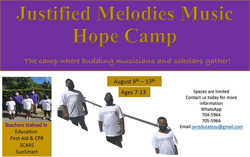 Justified Melodies Music Camp Bermuda Aug 2021