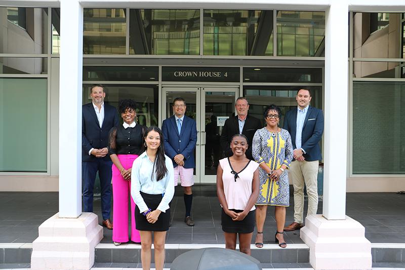 KPMG & Frontier Scholars Kathryn Mason & Owenea Roberts Bermuda Aug 2021