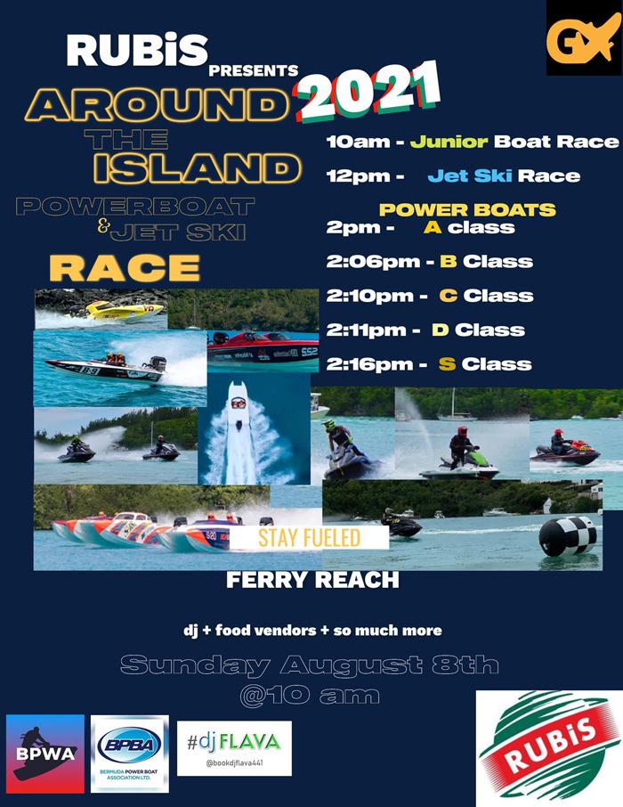Rubis Around the Island Powerboat & Jet Ski Race Bermuda Aug 2021