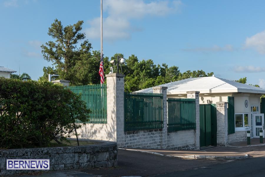 US Consulate Half Mast Bermuda Aug 2021 1