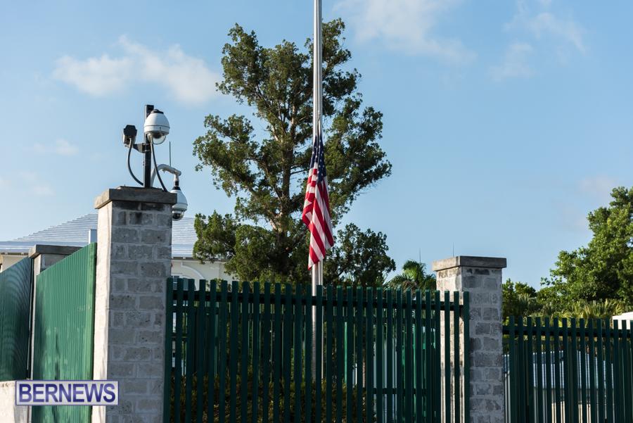 US Consulate Half Mast Bermuda Aug 2021 2