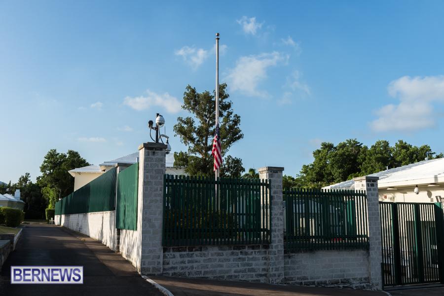 US Consulate Half Mast Bermuda Aug 2021 3