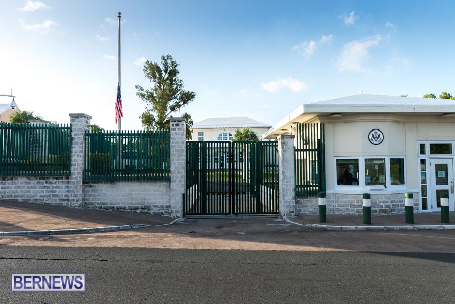 US Consulate Half Mast Bermuda Aug 2021 4