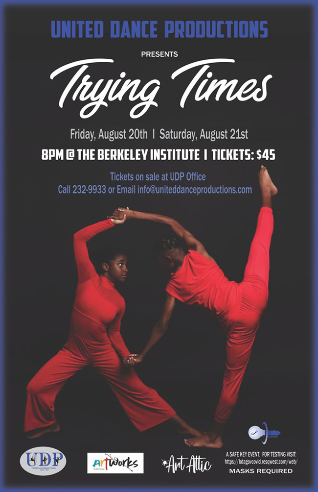 United Dance Productions Trying Times Bermuda Aug 2021