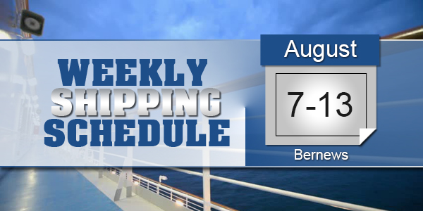 Weekly Shipping Schedule TC August 7 - 13 2021