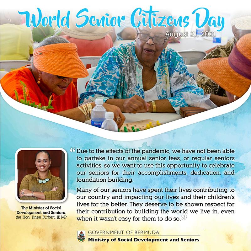 World Seniors Day 2021 Bermuda August 20 2021