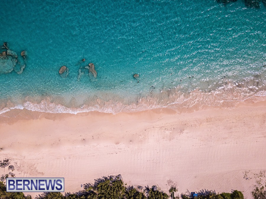 436 - A look at the beautiful Bermuda shoreline, with her natural pink sand