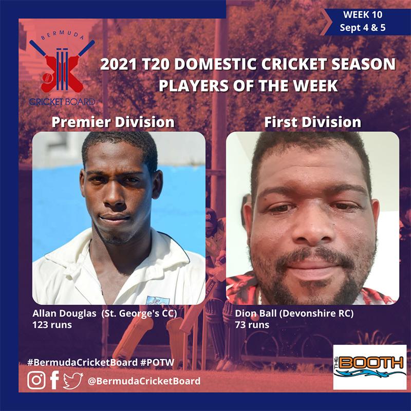 BCB T20 Player Of The Week Bermuda Sept 2021