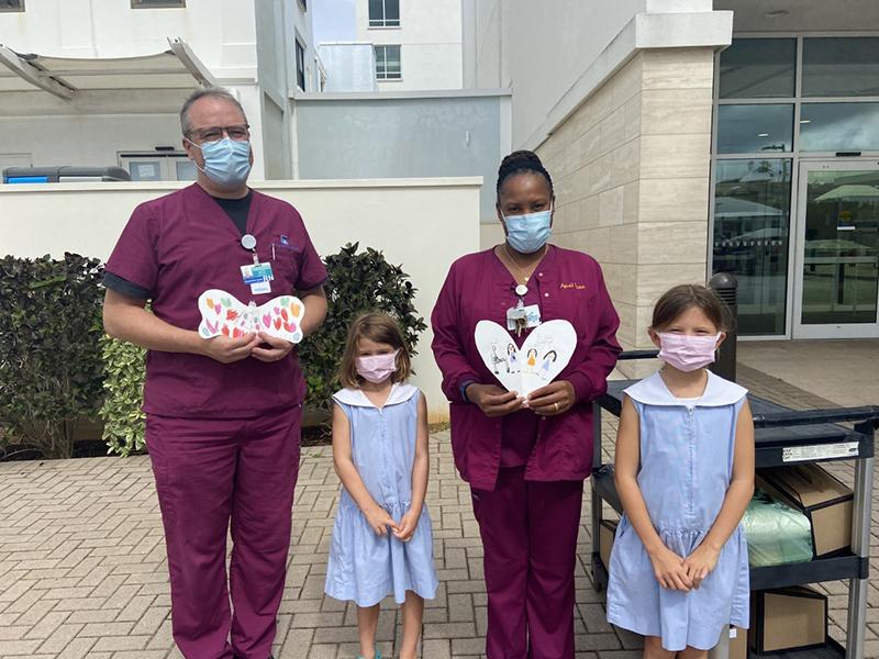 BHS Students Show Appreciation To KEMH Staff Bermuda Sept 2021 1